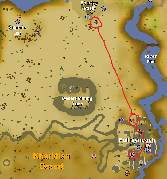 OSRS Pollnivneach Agility Map