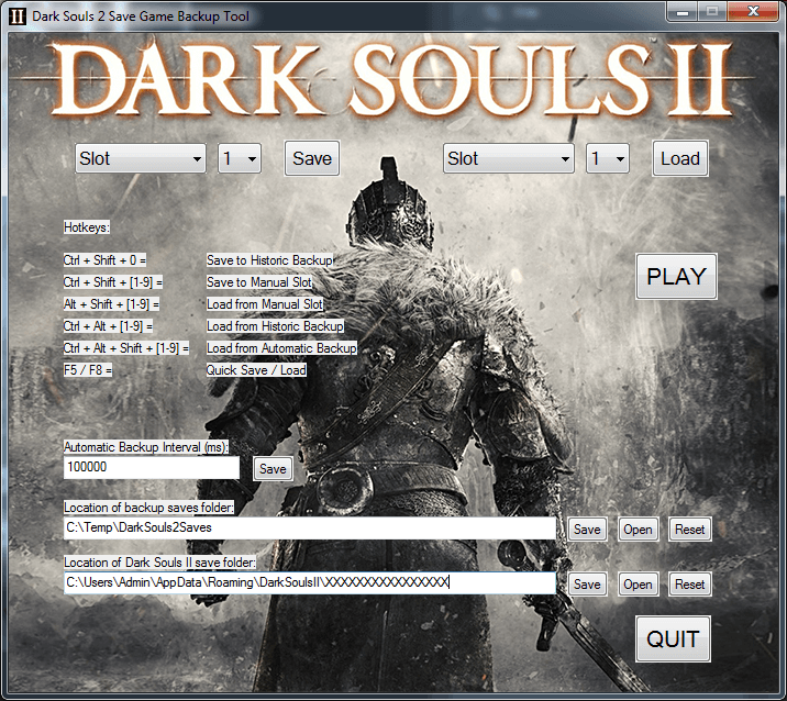 Dark Souls 2: Save Game Backup Tool
