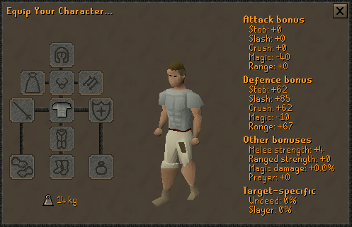 OSRS Fighter Torso Stats