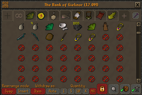 OSRS Bank Filler Slots
