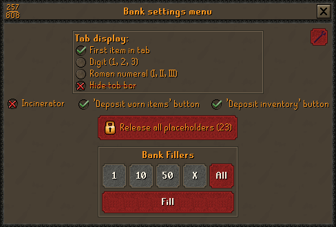 OSRS Fill Bank