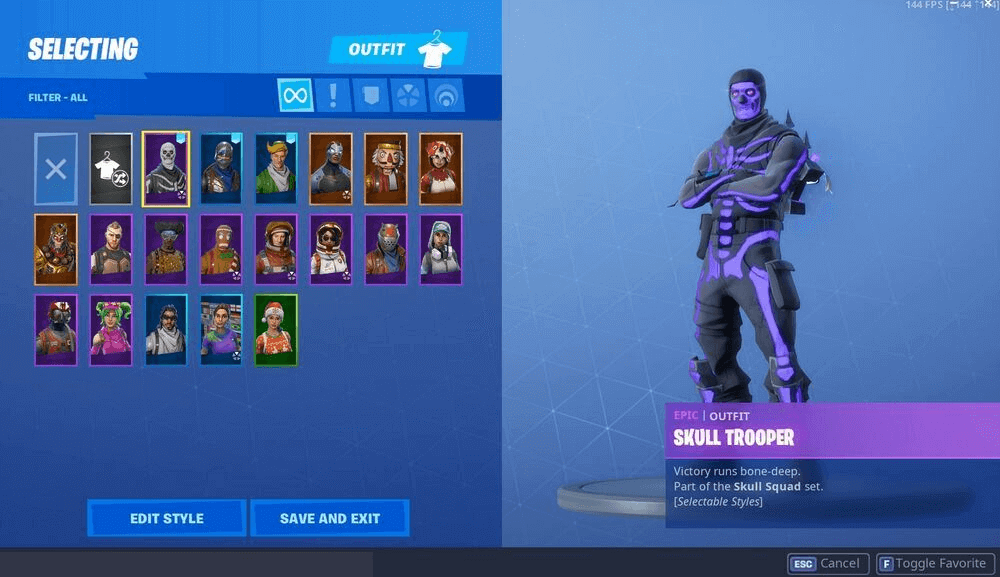 Fornite Account Features